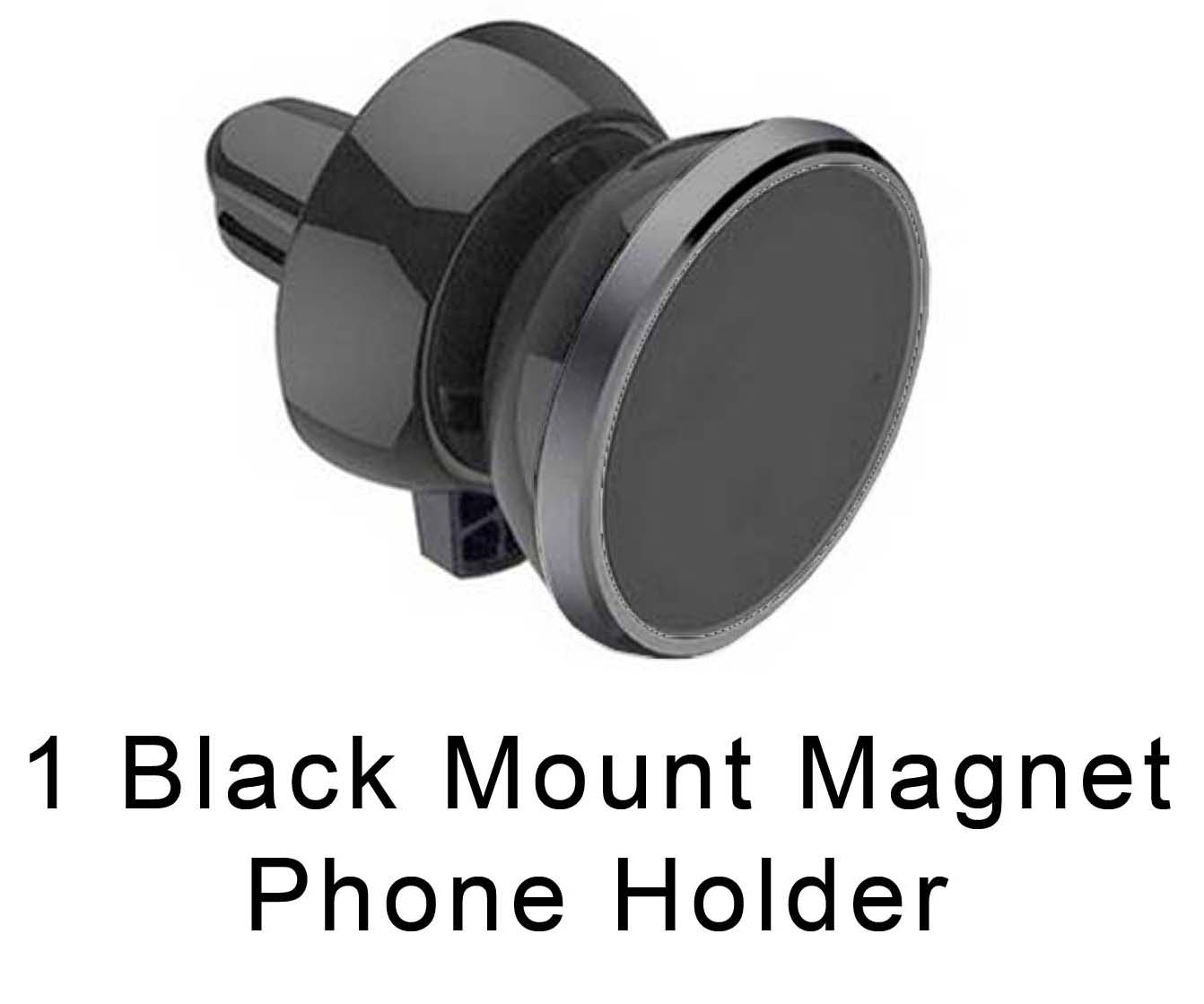 Black Universal Magnetic 360 Rotating Car Air Vent Mount Bracket Phone Holder GPS