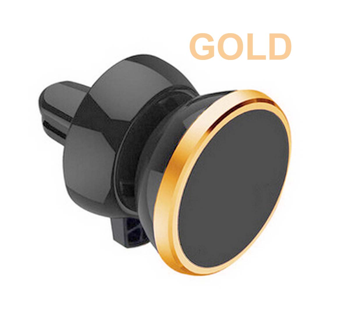Gold Universal Magnetic 360 Rotating Car Air Vent Mount Bracket Phone Holder GPS